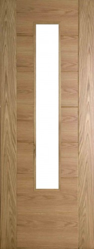 Internal Oak 993 Door Prefinished with Clear Flat Glass