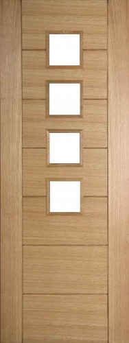 Internal Oak 994 Door Prefinished with Clear Flat Glass