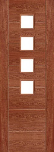 Internal Sapele 994 Door Prefinished with Clear Flat Glass