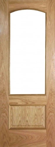 Internal Oak Alcudia Door Prefinished with Clear Flat Glass