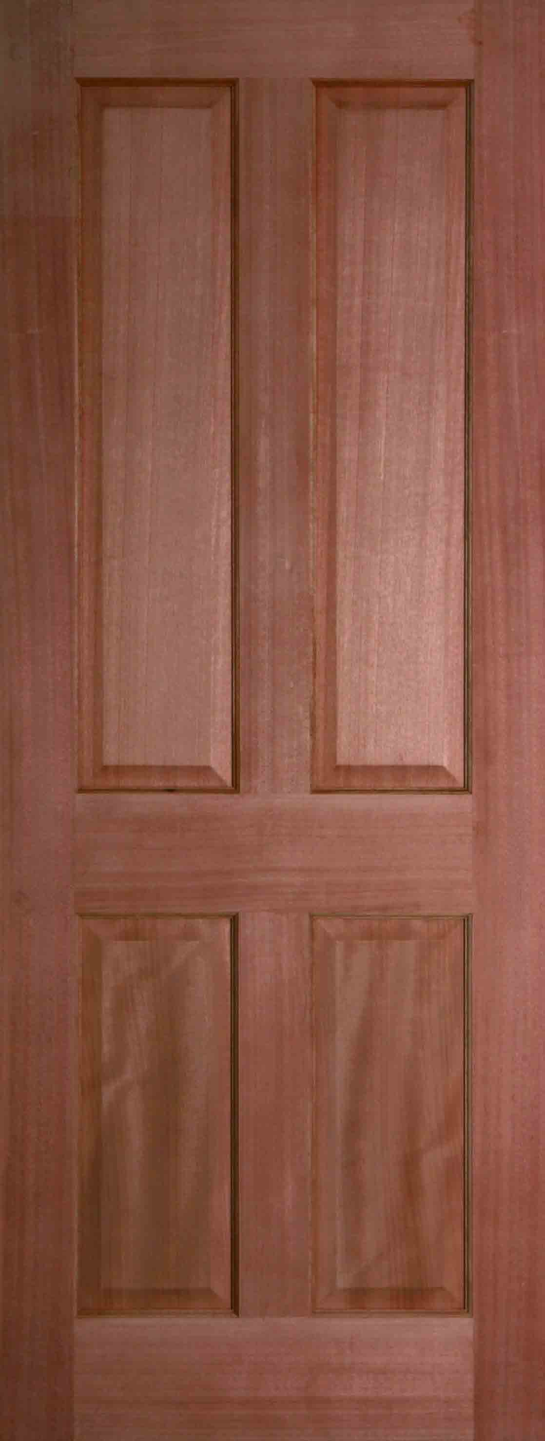 Internal hardwood colonial 4 panel door unfinished finewood for Hardwood doors