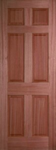 Internal Hardwood Colonial 6 Panel Door Unfinished
