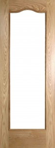 Internal Oak Cordoba Door Prefinished with Clear Flat Glass