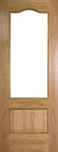 Internal Oak Girona Door Prefinished with Clear Flat Glass