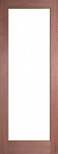 Internal Hardwood Pattern 10 Door Unfinished with Clear Flat Glass