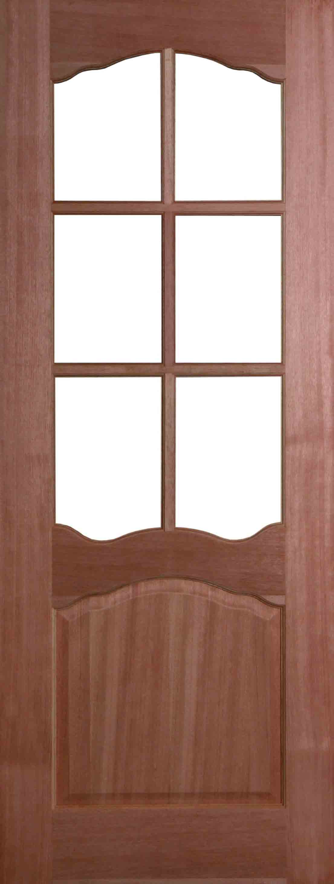 Internal hardwood riviera door unfinished with clear flat for Hardwood entrance doors