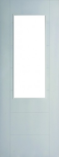 Internal White Moulded Smooth 991Door Primed with Clear Flat Glass
