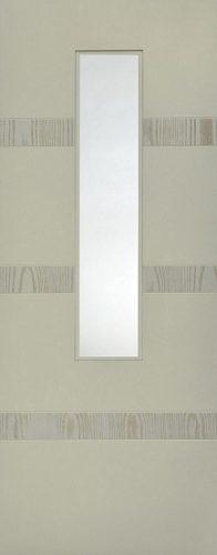 Internal White Moulded Smooth Aurora 1 Light Door Primed with Clear Flat Glass
