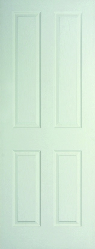 Internal White Moulded Woodgrain Canterbury FD30 Fire Door Primed