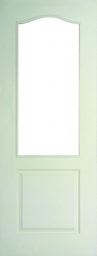 Internal White Moulded Woodgrain Classique 1 Light Door Primed with Clear Flat Glass