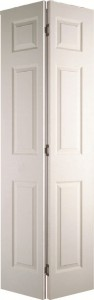 Internal White Moulded Woodgrain Colonist Bi-fold Door Primed