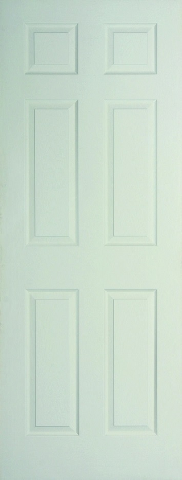 Internal White Moulded Woodgrain Colonist FD30 Fire Door Primed