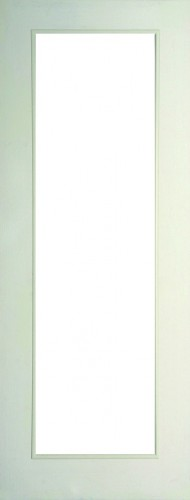 Internal White Moulded Woodgrain Colonist Full Light Door Primed with Clear Flat Glass