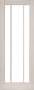 Internal White Moulded Smooth Cuba 3 Light Door Primed with Clear Flat Glass