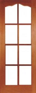 Internal Hardwood Hamlet Door Unfinished with Clear Flat Glass