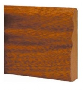 Sapele Ogee Door Stop Prefinished