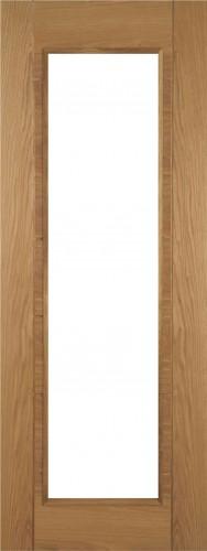 Internal Oak 910 Door Prefinished with Clear Flat Glass