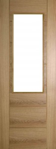 Internal Oak 991 Door Prefinished with Clear Flat Glass