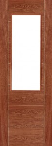 Internal Sapele 991 Door Prefinished with Clear Flat Glass