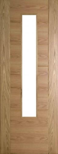 Internal Oak 993 Door Prefinished with Clear Flat Glass