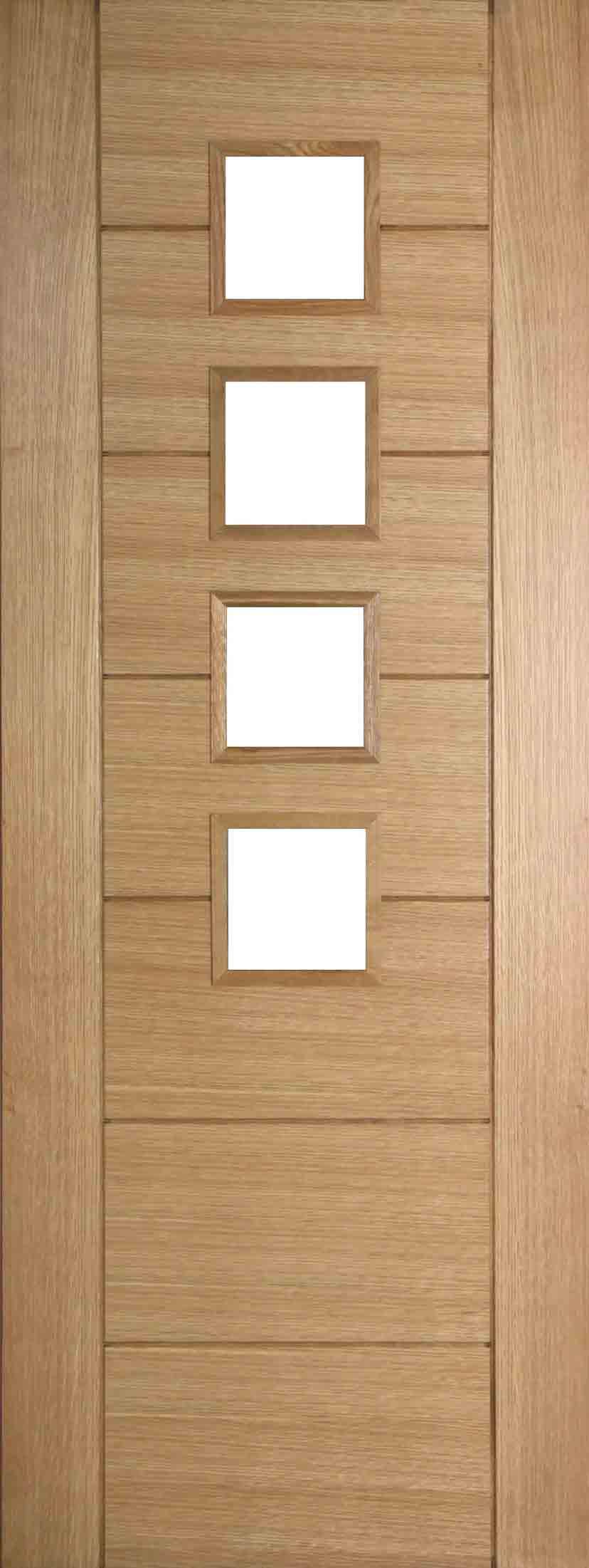 Internal Oak 994 Door Prefinished with Clear Flat Glass