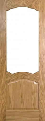 Internal Oak Adriatic Door Prefinished with Clear Flat Glass