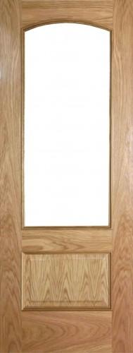 Internal Oak Alcudia Door Prefinished with Clear Flat Glass