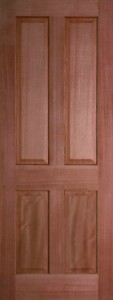 Internal Hardwood Colonial 4 Panel Door Unfinished