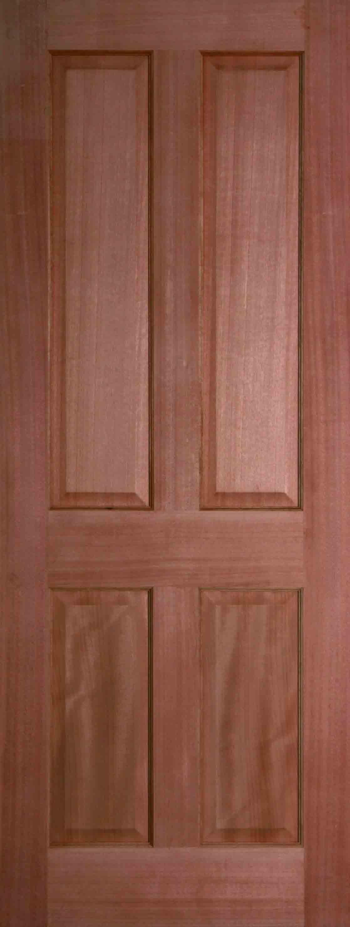 4 Panel Door : Internal hardwood colonial panel door unfinished finewood