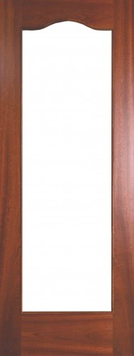 Internal Sapele Cordoba Door Prefinished with Clear Flat Glass