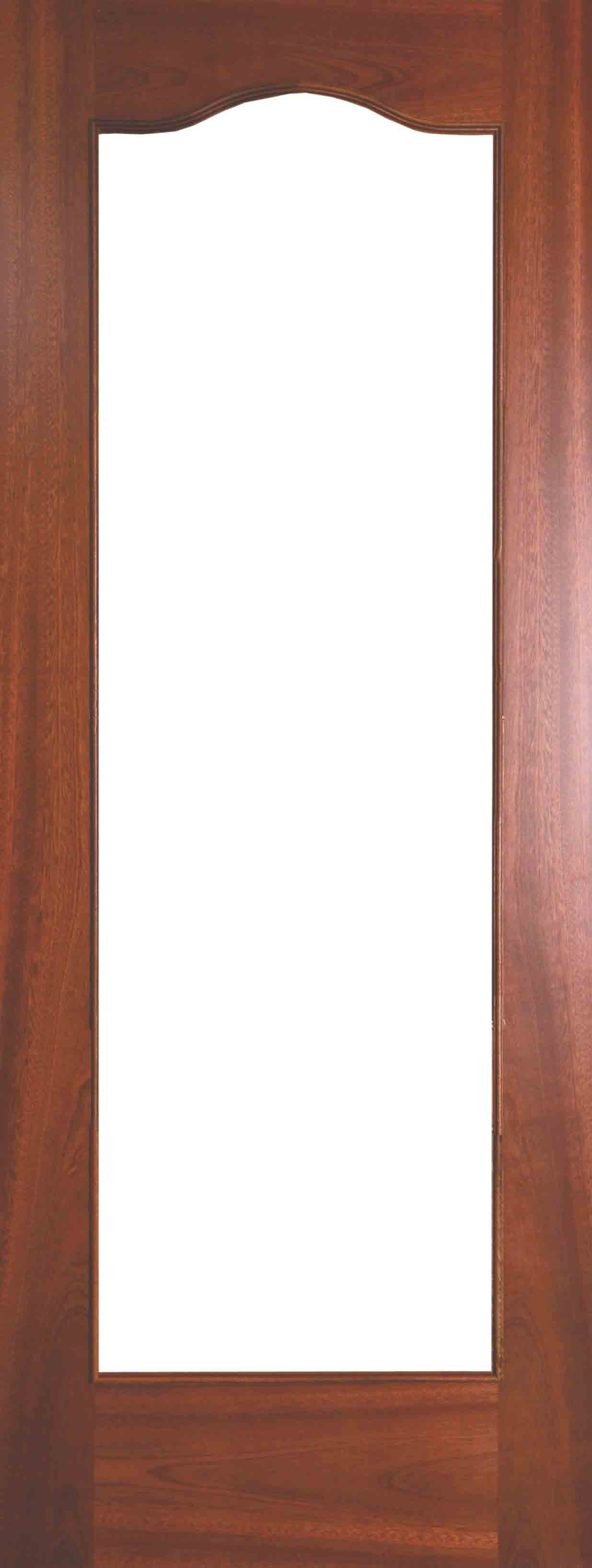 Internal Sapele Cordoba Door Prefinished with Clear Flat Glass