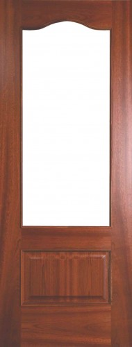 Internal Sapele Girona Door Prefinished with Clear Flat Glass