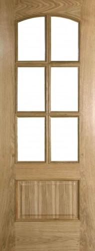 Internal Oak Lanzarote Door Prefinished with Clear Flat Glass