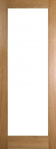 Internal Oak Pattern 10 Door Prefinished with Clear Flat Glass