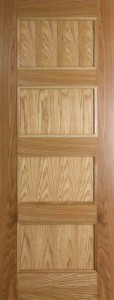 Internal Oak Shaker 4 Panel Door Prefinished