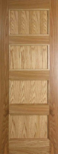 Internal Oak Shaker 4 Panel Door Prefinished