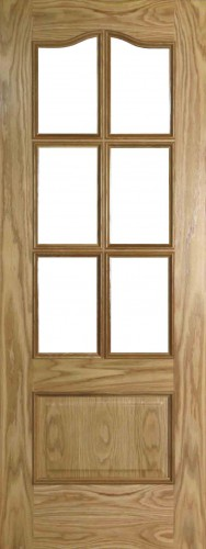 Internal Oak Valencia Door Prefinished with Clear Flat Glass