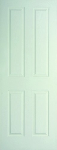 Internal White Moulded Woodgrain Canterbury Door Primed