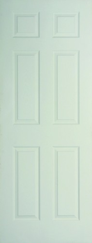 Internal White Moulded Woodgrain Colonist Door Primed