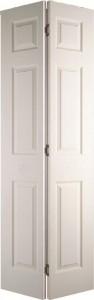 Internal White Moulded Woodgrain Colonist Bi-fold Door Primed