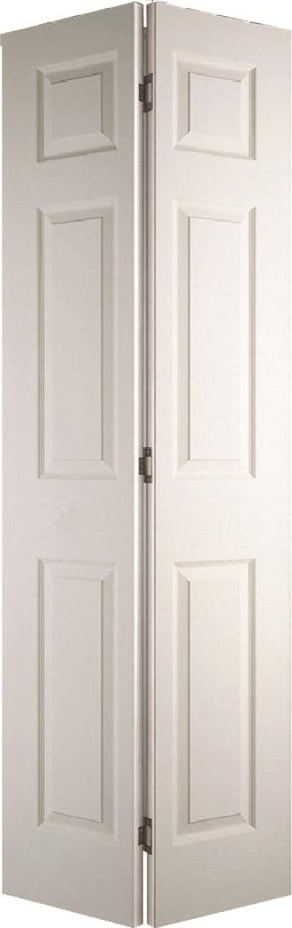 Internal White Moulded Woodgrain Colonist Bi-fold Door Primed & Internal White Moulded Woodgrain Colonist Bi-fold Door Primed | Finewood