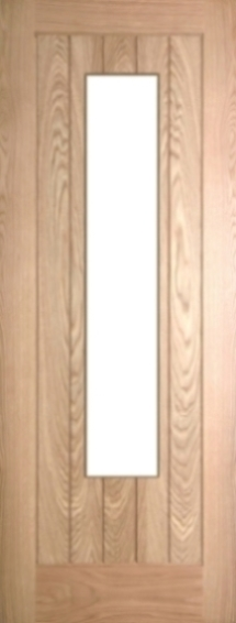 Internal Oak Mexicano 1 Light Door Prefinished with Clear Flat Glass