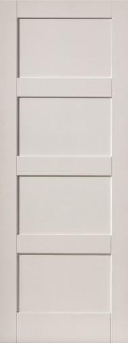 Internal White Moulded Smooth Shaker 4 Panel Primed Door