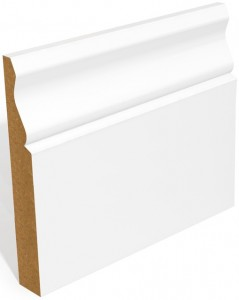 White Ogee Skirting Primed