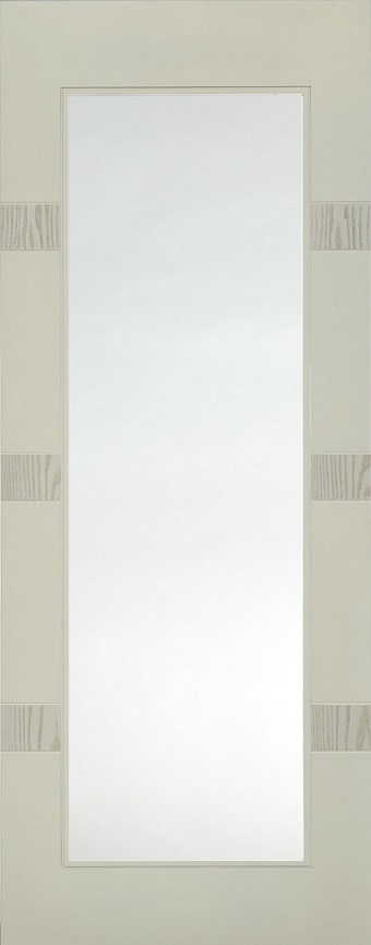 Internal White Moulded Smooth Aurora Full Light Door Primed with Clear Flat Glass