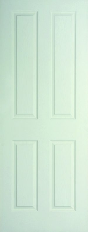 Internal White Moulded Woodgrain Canterbury FD60 Fire Door Primed