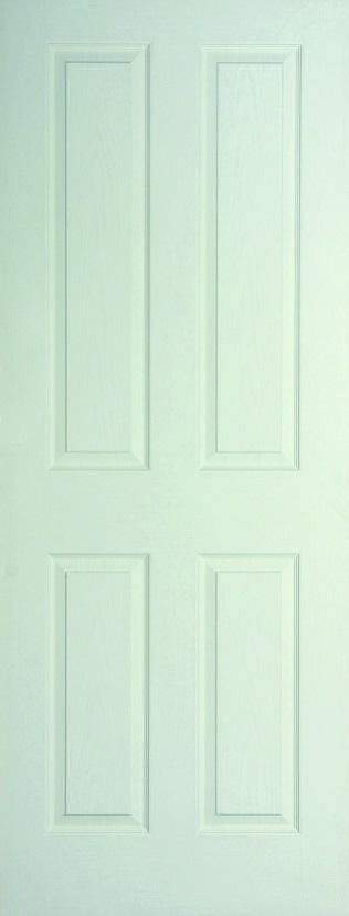 Internal White Moulded Woodgrain Canterbury FD60 Fire Door Primed