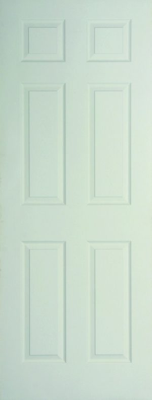 Internal White Moulded Woodgrain Colonist FD60 Fire Door Primed