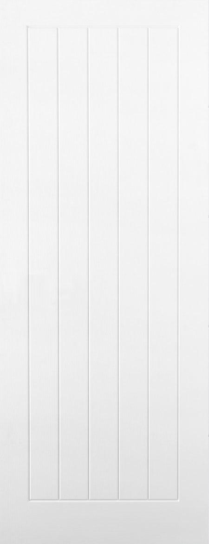 Internal White Moulded Woodgrain Mexicano FD30 Fire Door Primed